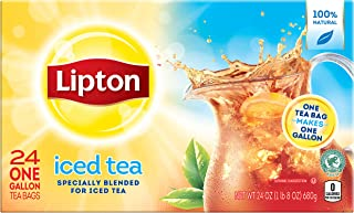 Lipton 1 gal yield Iced Tea, Unsweetened Smooth Blend 24 count