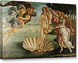 Niwo Art - The Birth of Venus, World's Most Famous Paintings Series, Canvas Wall Art Home Decor, Gallery Wrapped, Stretched, Framed Ready to Hang (18