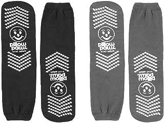 Support Plus Bariatric Slipper Socks - Black/Gray - 2 Pair