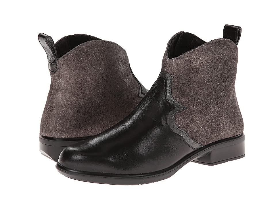 Naot Sirocco (Black Madras Leather/Gray Shimmer Leather/Metallic Road Leather) Women