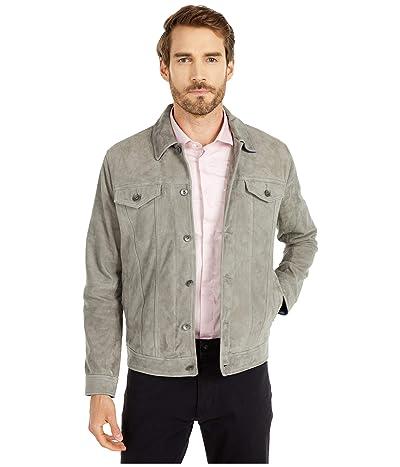 John Varvatos Star U.S.A. Steven Suede Trucker Jacket L1294W1B (Pebble Grey Heather) Men