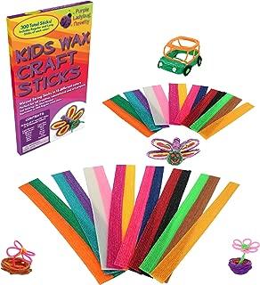 Purple Ladybug Novelty - Mega Pack de Palitos de Cera para Niños – Palitos para Manualidades – 15 Colores 2 Longitudes 15.25 y 30.50 cm ¡150 de Cada! – Arte sin Desorden - Ideal para Juegos de Viaje