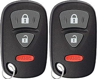 KeylessOption Keyless Entry Remote Control Car Key Fob Transmitter Alarm for Suzuki SX4 07-09, Grand Vitara 06-12 KBRTS005...