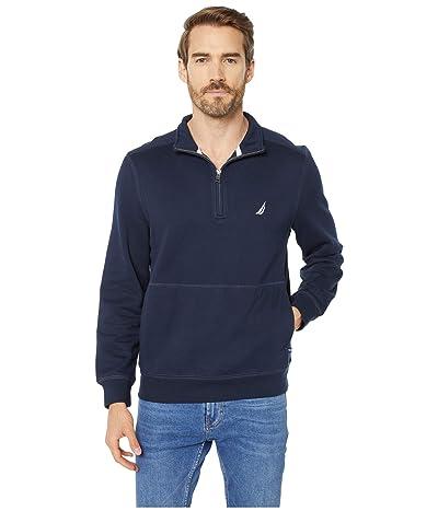 Nautica 1/4 Zip Fleece Pullover (Blue 1) Men