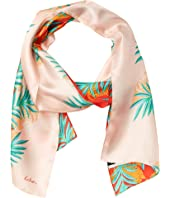 Color-Block Palm Silk Oblong
