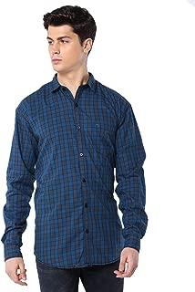Men Cotton Casual Box Check Shirt