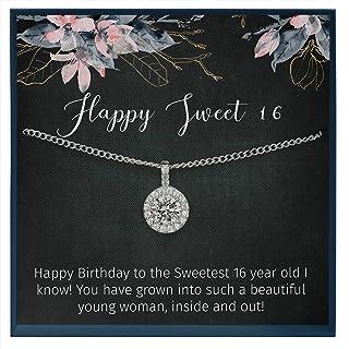 Muse Infinite Sweet 16 Birthday Gift Idea, 16th Bday Gift Girl Necklace, Sweet 16 Necklace, Gift for 16 Year Old Girl, Swe...