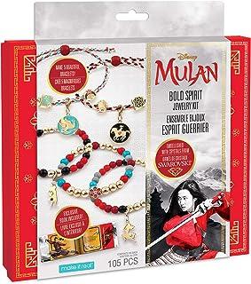 Make It Real - Disney Mulan Bold Spirit Jewelry Kit - DIY Charm Bracelet Making Kit for Girls - Friendship Bracelet Kit wi...