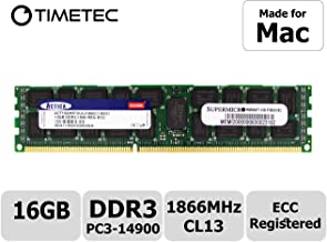Timetec Supermicro Compatible for Apple 16GB DDR3 1866MHz PC3-14900 Registered ECC RDIMM Server Memory RAM Module Upgrade for Mac Pro Late 2013 A1481 MQGG2LL/A MD878LL/A ME253LL/A (16GB)