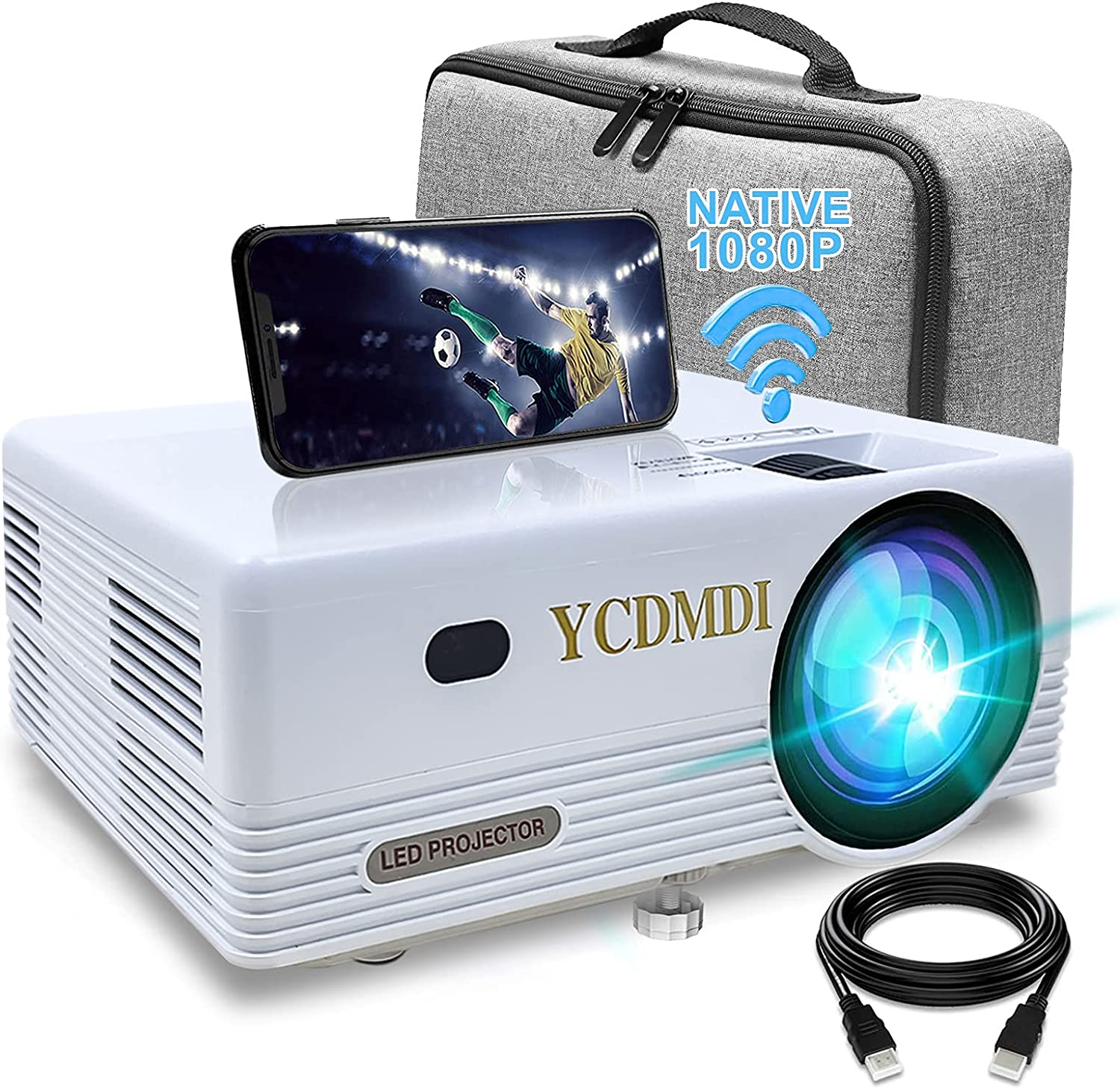 Native 5 ☆ very popular 1080P WiFi Projector YCDMDI Outlet SALE 8000L Movie Full HD Outdoor