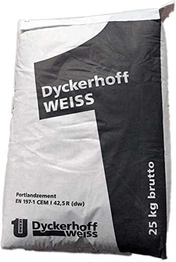 Weißzement Dyckerhoff Weiß CEM I 42,5/R, 25 kg