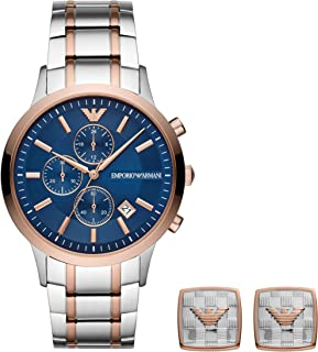 Emporio Armani Dress Watch For Men Chronograph Stainless Steel - ar80025