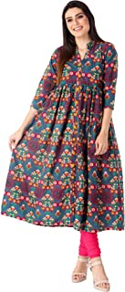 M&D Women's Cotton A-Line Kurta