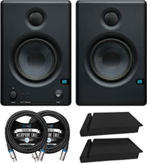 """PreSonus E4.5-4.5"""" 2-Way Near Field Studio Monitor for Computers, Media Players, Mixers (Pair) Bundle with Blucoil 2X Acou..."""