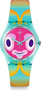 Swatch Originals Mr Blubby Multicolored Dial Plastic Strap Unisex Watch GL120