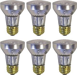 Set of 6 Indoor Flood Light Bulbs, Medium Base 60W, PAR16, 2700K (6 Bulbs) (6 Bulbs)