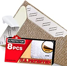 Rug Grippers X-PROTECTOR – Best 8 pcs Anti Curling Rug Gripper. Keeps Your Rug in Place & Makes Corners Flat. Premium Carp...