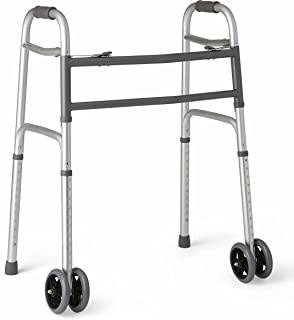 Medline Heavy Duty Bariatric Folding Walker with 5