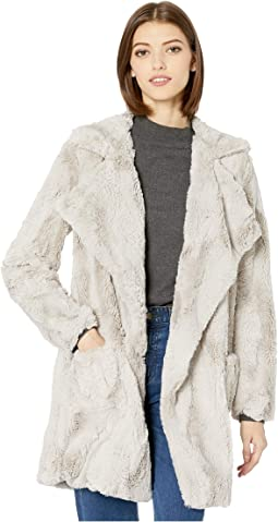 Shear Factor Swirl Faux Fur Coat
