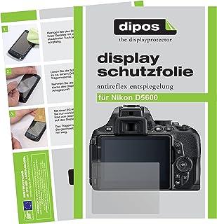 dipos I 6X Schutzfolie matt kompatibel mit Nikon D5600 Folie Displayschutzfolie