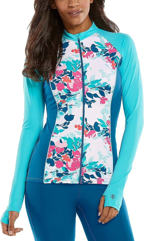 San Diego Mall Coolibar UPF 50+ Women's Escalante Ranking TOP4 Rash Sun Jacket Guard Prote -