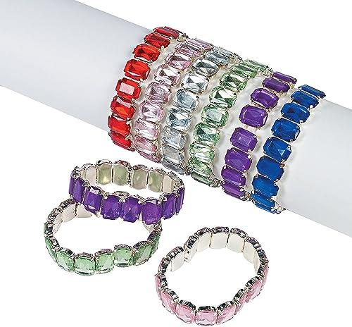 marca Fun Express Jumbo Jewel Bracelets (1 Dozen) Dozen) Dozen)  genuina alta calidad