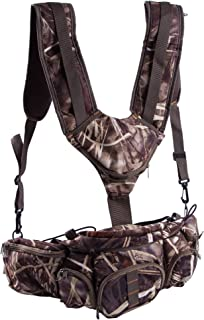 Huntvp Hunting Camo Fanny Pack with Harness Waist Pack Pouch with Shoulder Straps for Climbing Hiking Camping Running Travelling