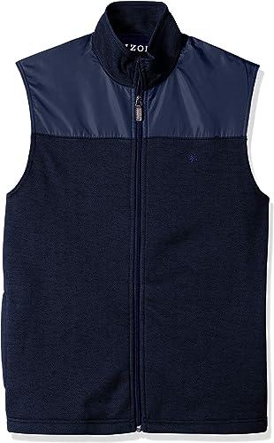 IZOD Hommes's Spectator Fleece Vest, Bone Peacoat, XX-grand