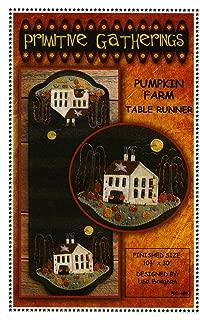 Pumpkin Farm Table Runner Wool Applique Pattern by Lisa Bongean from Primitive Gatherings 10.5
