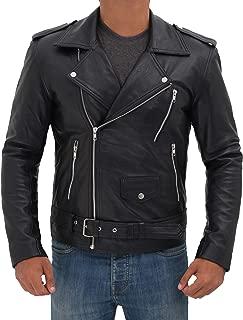 Men's Leather Jacket - Lambskin Leather Black Jackets for Men