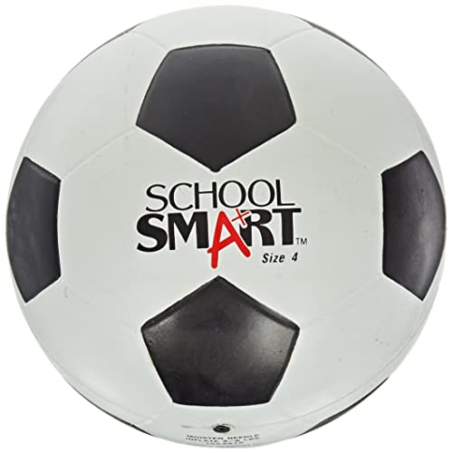 1621f5d1d School Smart No 4 Soccer Ball, Black/White