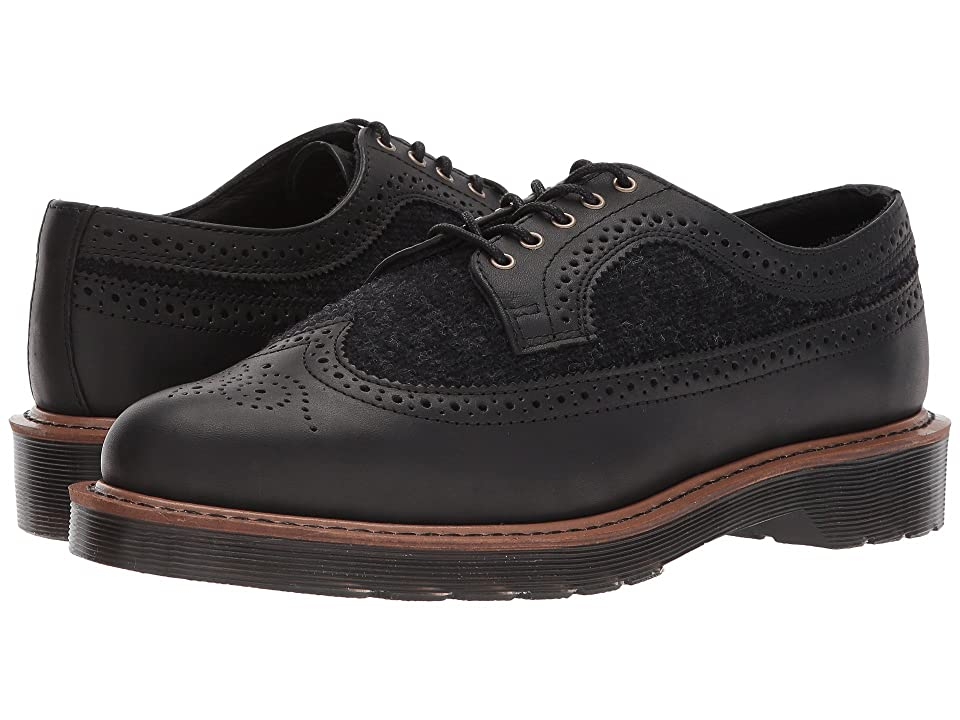 Dr. Martens 3989 Brogue (Black Temperley/Gunmetal Trf-K1062) Men