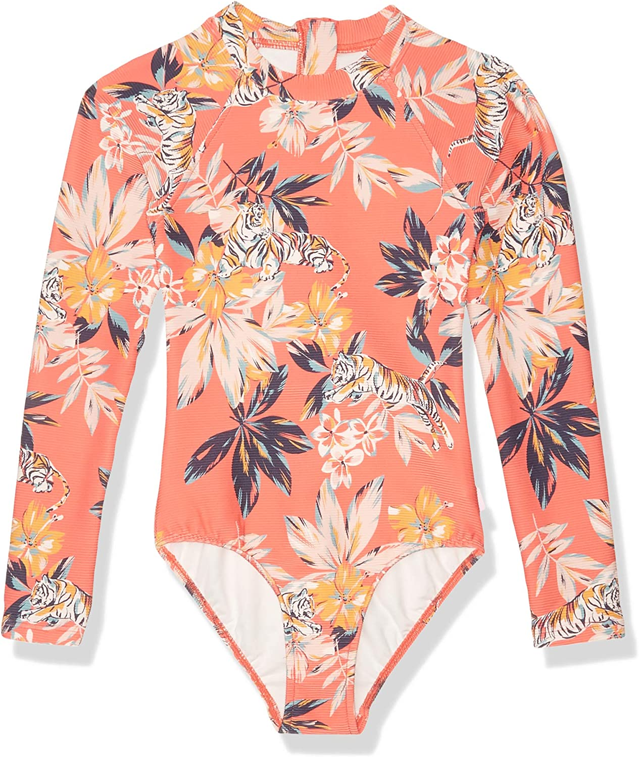 Seafolly Girls Sweet Summer Long Sleeve Zip Front Swimsuit Rashguard 56391T