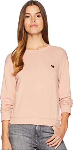 Give Love Savasana Long Sleeve Knit Sweater