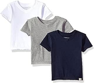 Baby Boys' T-Shirts, Set of 3 Organic Short Long Sleeve V-Neck Tees