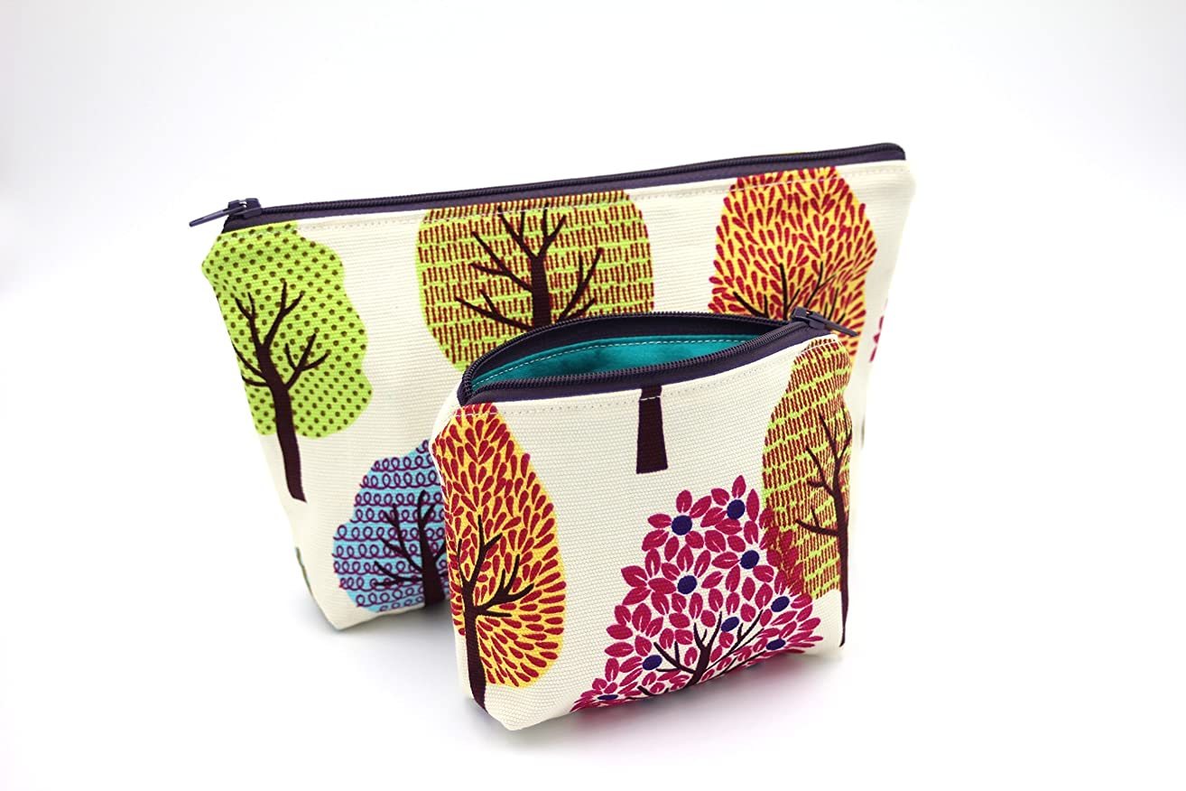 Tree Hug Essential Oil Bag, Cotton Zipper Pouch, Travel Bag Set, Cosmetic Cotton Bag, Makeup Bag, Toiletry Bag, Holiday Gift, Gift for Her