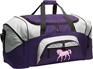 Horse Duffle Bag Horse Theme Gym Bags Purple