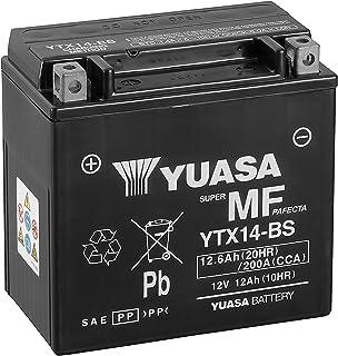 Yuasa YTX14-BS - Batería con paquete de ácido, 12 V, 14.5 x 15 x 8.7 cm