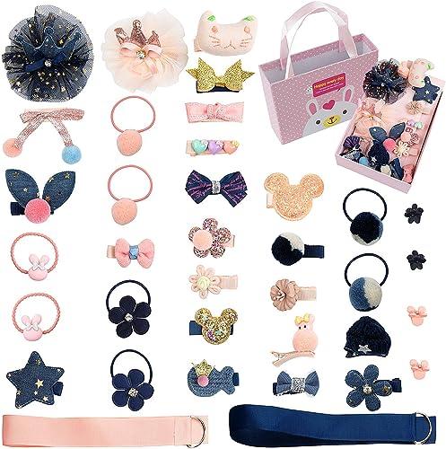 Comius 36 Pièces Fille Bébé Pinces à Cheveux Set, Bowknot Fleur Doux Épingle à Cheveux Accessoires pour Petites Fille...