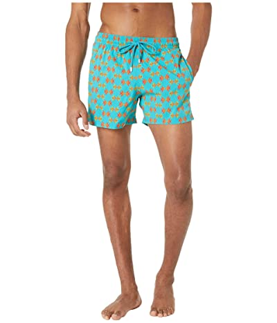 Vilebrequin Moorise Fish in Love Superflex Swim Trunks (Azurin) Men