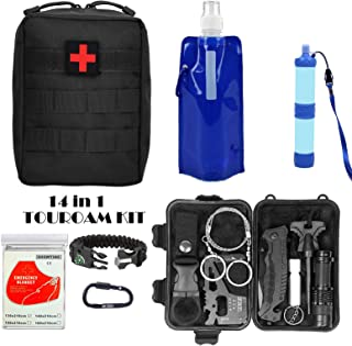 Military Tactical First aid Kit-EMT Pouch IFAK Bag Trauma Supplies Kit,Emergency Survival Kit for Camp,Hunt,Boat,Adventure...