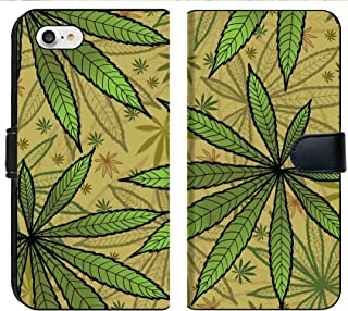 Liili Premium Phone Case Designed for iPhone 8 and iPhone 7 Flip Fabric Wallet Case Image ID: 10800828 Wallpaper with Green leavs of Cannabis