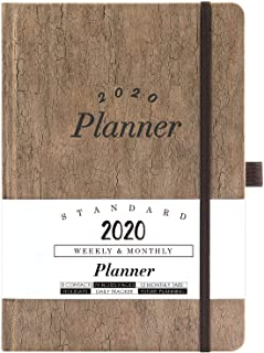 2020 Planner - Weekly & Monthly Planner with Tabs, 5.75
