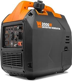 WEN 56203i Super Quiet 2000-Watt Portable Inverter Generator w/Fuel Shut Off, CARB Compliant, Black