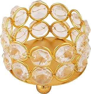 Shubhkart Crystal Tea Light Candle Holder