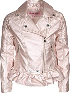 Urban Republic Girl's Faux Leather Motorcycle Moto Biker Jacket (Toddler/Little Girls/Big Girls)