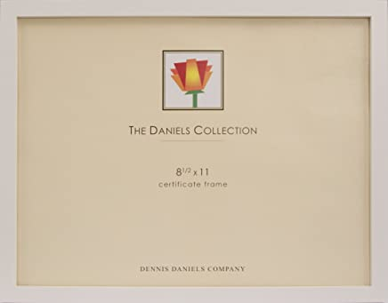 Dennis Daniels Gallery Woods Certificate Frame, 8.5 x 11 Inches, White Finish