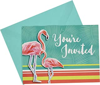 Creative Converting Party Invitations, Island Oasis (8-Count)