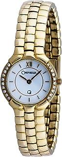 ORPHELIA - Mon-7016 - Reloj analógico de Cuarzo para Mujer con Correa de Oro Amarillo, Color Amarillo
