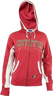 Arizona Coyotes NHL Womens Full Zip Fleece Sunday Hoodie, Red